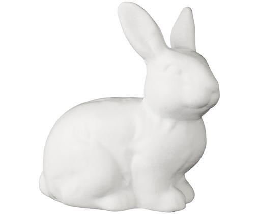 Dekoracyjny zając Sasine, Ceramika, Biały, 5 x 5 cm