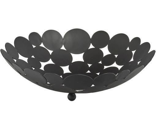 Miska do przechowywania Drops, Metal, Czarny, Ø 29 x W 9 cm