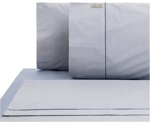Completo letto Stripes, Azzurro, blu marino