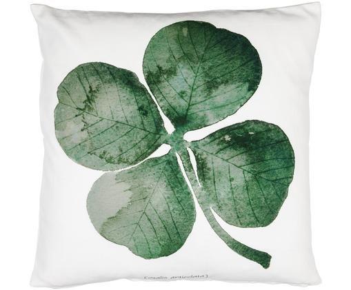 Coussin Oxalis, Blanc, vert