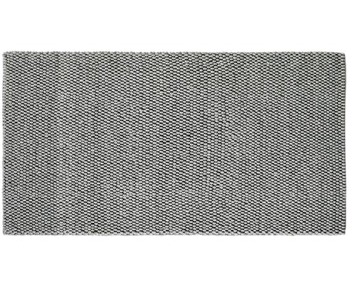 Handgenähter Teppich My Loft in Hellgrau meliert, Flor: 60% Wolle, 40% Viskose, Silbergrau, B 80 x L 150 cm (Größe XS)