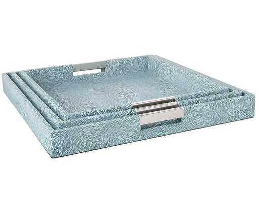 Deko-Tablett-Set Megan, 3-tlg., Blau