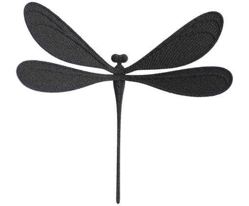 Magnet Vila, Polyamid, 3D-Druck mit rückseitigem Magnet, Schwarz, 6 x 6 cm