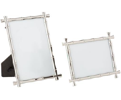 Bilderrahmen-Set Bamboo Photo, 2-tlg., Rahmen: Zink Front: Glas