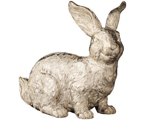 Deko-Objekt Semina Rabbit, Polyresin, Goldfarben, 9 x 8 cm
