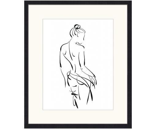 Gerahmter Digitaldruck Naked Woman