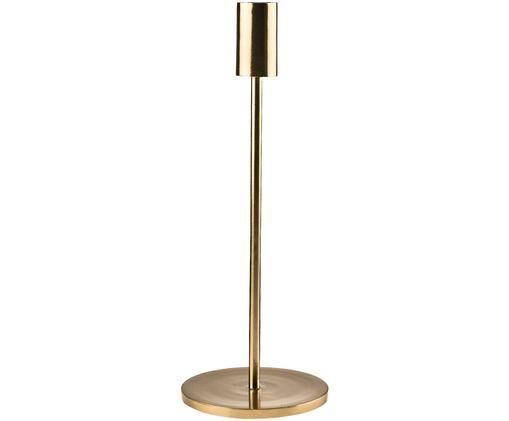 Kerzenhalter Highlight, Aluminium, beschichtet, Messingfarben, 11 x 29 cm
