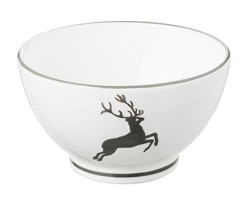 Müslischale Grauer Hirsch, Keramik, Grau,Weiß, Ø 14 cm