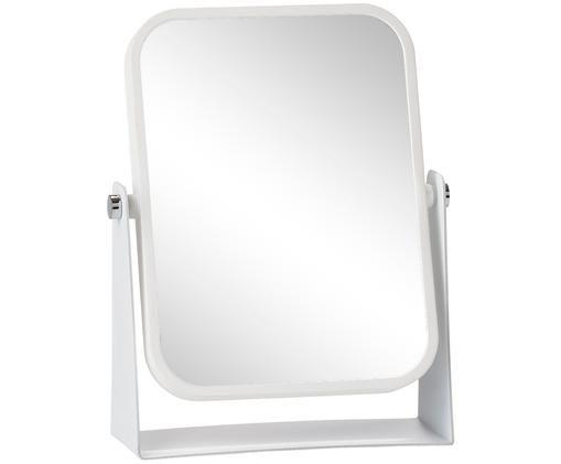 Miroir de salle de bain Aurora, à effet grossissant, Cadre: blanc Surface réfléchissante: verre miroir