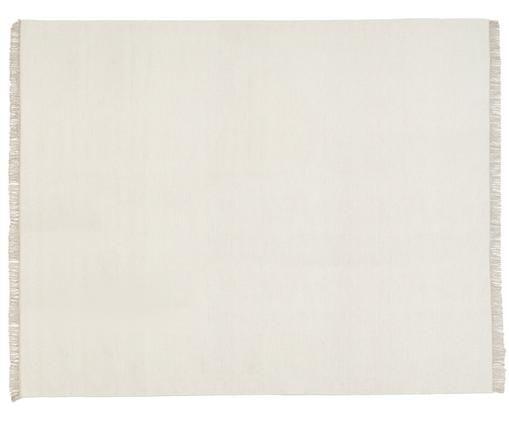 Alfombra artesanal de lana Rainbow, Blanco crudo, beige, An 250 x L 350 cm (Tamaño XL)