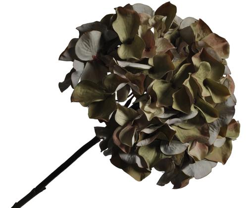 Kunstblume Hortensie Talinka, Blüte: Kunststoff, Stiel: Metall, Grüntöne, Grau, L 76 cm