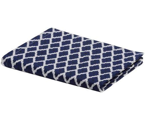 Tovaglia Nappe, Cotone, Bianco, blu, nero, Per 6-8 persone  (Larg. 140 x Lung. 240 cm)