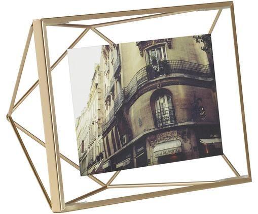 Cornice fotografica Prisma, Cornice: acciaio, Ottone, 10 x 15 cm