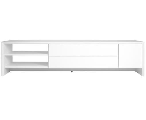 TV-Lowboard Melvin in Weiß, Korpus: Mitteldichte Holzfaserpla, Weiß, 180 x 44 cm