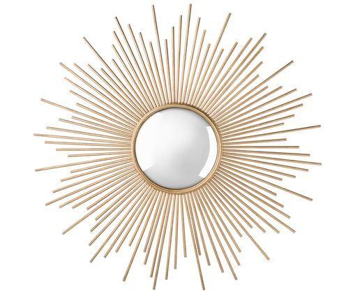 Specchio arredo da parete Sunburst, Dorato, lastra di vetro