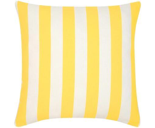 Poszewka na poduszkę Timon, 100% bawełna, Żółty, biały, S 45 x D 45 cm