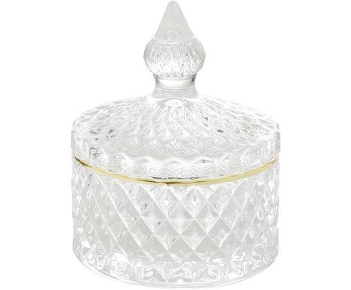 Contenitore Freser, Bordo: metallo rivestito, Dorato trasparente, Ø 9 x Alt. 10 cm