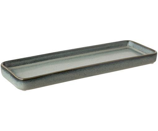 Tablett Mila, Keramik, glasiert, Graugrün, L 27 x H 3 cm