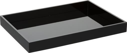 Hochglanz-Tablett Hayley in Schwarz