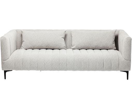 Sofa Celebrate (3-Sitzer), Bezug: Polyester, Korpus: Kiefernholz, massiv, natu, Füße: Metall, pulverbeschichtet, Hellgrau, Schwarz, B 200 x T 87 cm