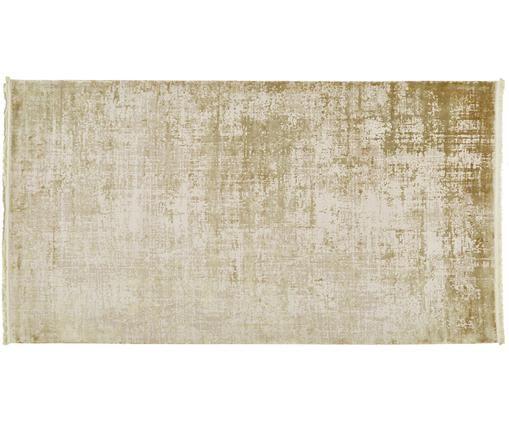 Tappeto a pelo corto Cordoba, Retro: cotone, Verde oliva, beige, Larg. 80 x Lung. 150 cm (taglia XS)