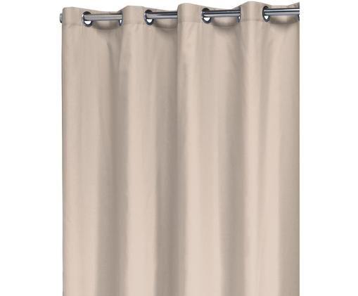 Douchegordijn Coloris van katoenen mix., 67% polyester, 33% katoen Waterafstotend, niet waterdicht, Beige, 180 x 200 cm