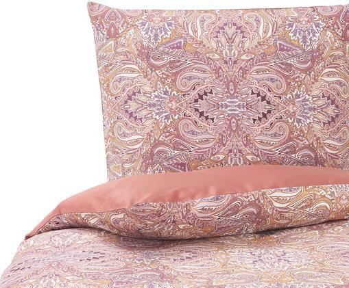 Baumwollsatin-Bettwäsche Boheme mit Paisley-Muster