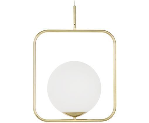 Lámpara de techo Daphne, Pantalla: vidrio, Blanco, latón, An 38 x Al 52 cm
