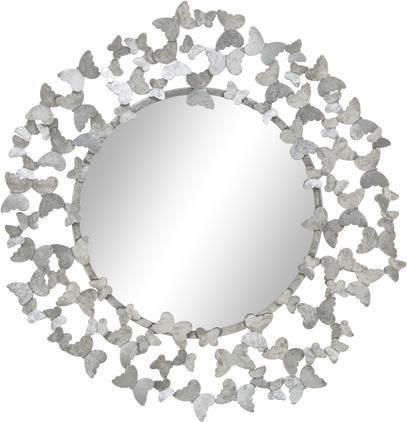 Wandspiegel Butterfly mit Silberrahmen