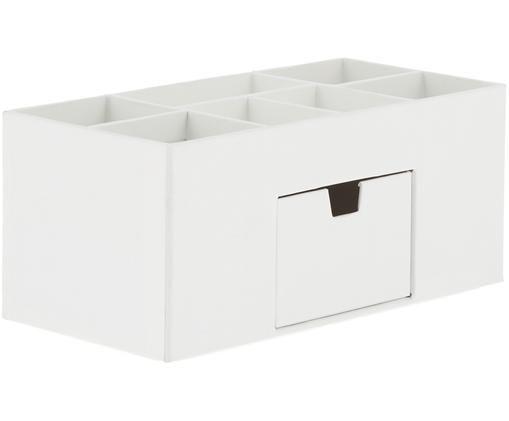 Büro-Organizer Vendela, Fester, laminierter Karton, Weiß, 24 x 11 cm