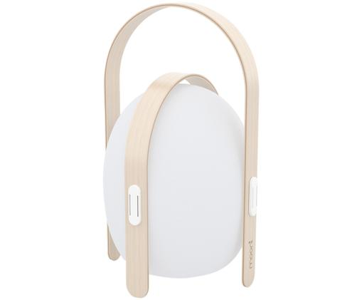 Lampe d'extérieur à LED mobile Ovo, Blanc, brun clair