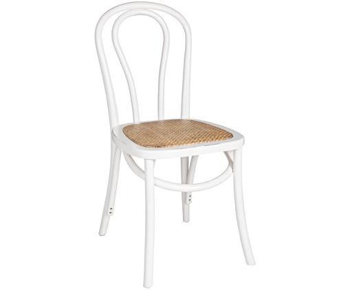 Krzesło Curvy, Stelaż: drewno brzozowe, lakierow, Biały, S 42 x G 43 cm
