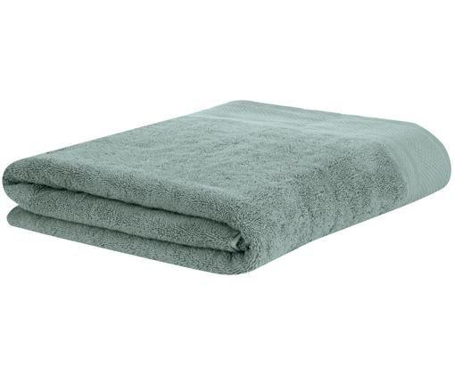 Asciugamano con bordo decorativo Premium, Verde salvia, Telo bagno