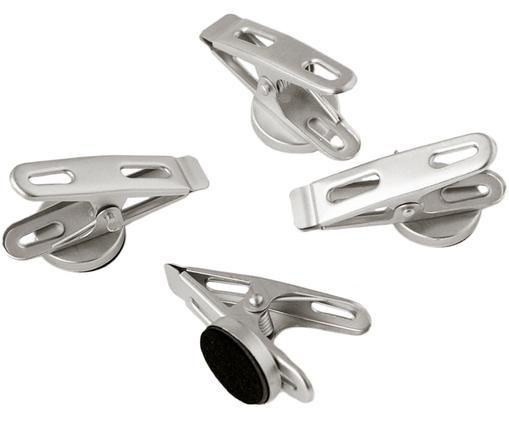 Magnetklammern Clips, 4 Stück, Metall, magnetisch, Metall, 2 x 5 cm