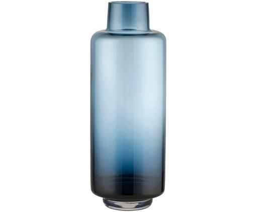 Vaso in vetro soffiato Hedria, Vetro, Blu, Ø 11 x A 30 cm