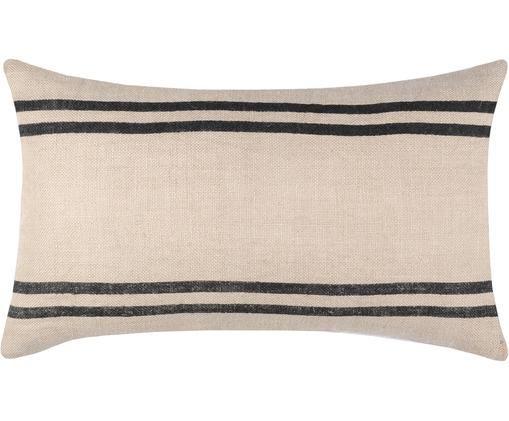 Federa arredo Fantoria, 50% cotone, 50% iuta, Beige chiaro, grigio scuro, Larg. 30 x Lung. 50 cm