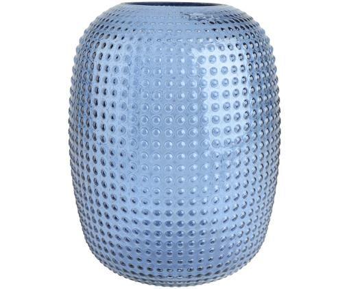 Vase en verre Kula, Bleu, transparent