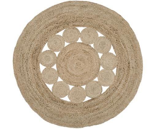 Runder Jute-Teppich Tapu, handgefertigt