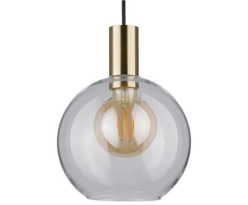 Suspension boule en verre Esben, Couleur laiton, transparent