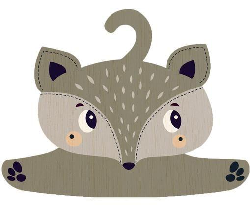 Appendiabiti Fox, Compensato rivestito, Grigio, greige, nero, crema, Larg. 30 x Alt. 30 cm