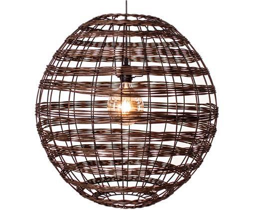 Lampa wisząca Broom, Rattan, Ciemny brązowy, Ø 62 x W 62 cm