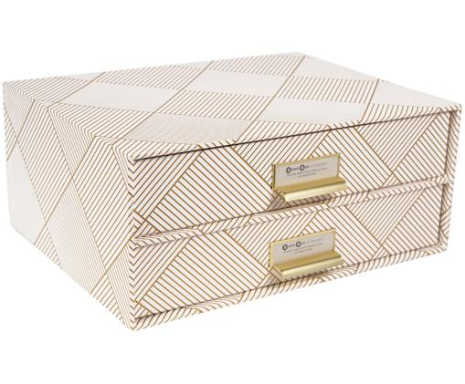 Bureau organizer Birger, Organizer: stevig gelamineerd karton, Goudkleurig, wit, 33 x 15 cm