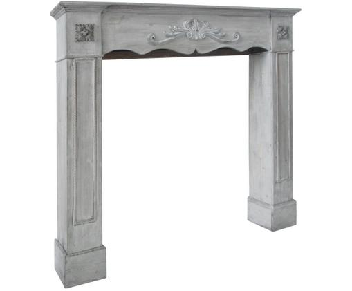 Marco de chimenea Menton, Tablero de fibra de densidad media y madera de paulownia, Gris, An 105 x F 18 cm