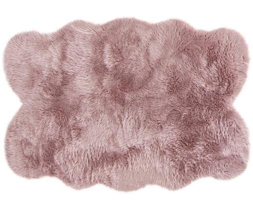 Pelliccia sintetica Elmo, Vello: 50% acrilico, 50% poliest, Retro: poliestere, Rosa, Larg. 140 x Lung. 200 cm