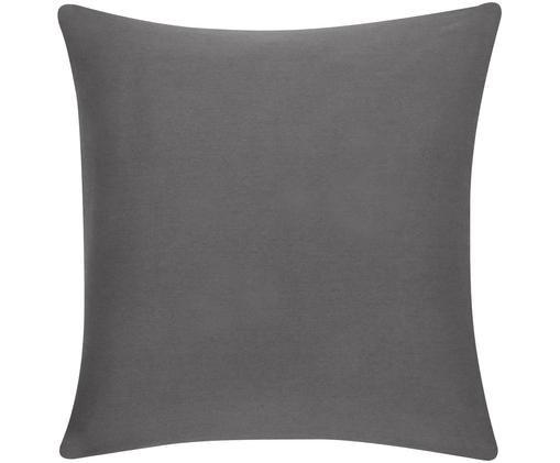 Funda de cojín Mads, 100%algodón, Gris oscuro, An 50 x L 50 cm
