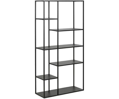 Libreria in metallo in nero Newton, Metallo verniciato a polvere, Nero, Larg. 80 x Alt. 160 cm