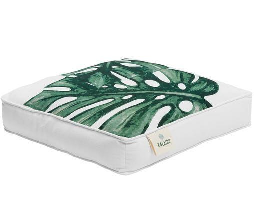 Cuscino sedia Tropics, Verde, bianco, Larg. 45 x Lung. 45 cm