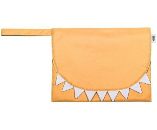 Pochette tapis à langer travel, Jaune moutarde, blanc