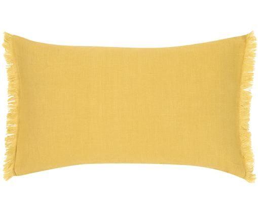 Funda de cojín de lino con flecos Luana
