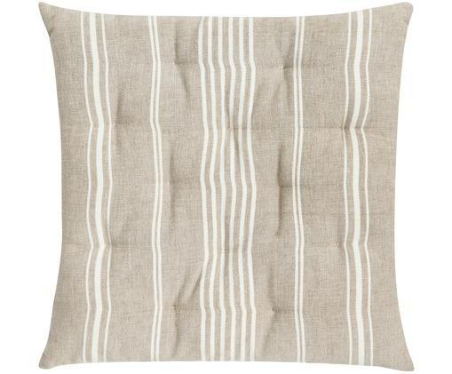 Cuscino sedia Uneven, Beige, bianco spezzato, Larg. 40 x Lung. 40 cm